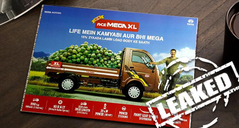 लाॅन्च से पहले लीक हुआ Tata Ace XL का ब्रोशर