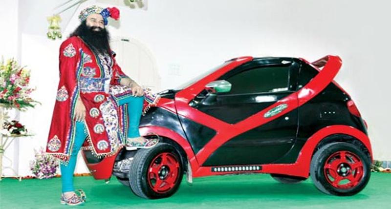 रंगीन मिजाज के साथ रंगी-बिरंगी कारों के भी शौकीन हैं राम रहीम