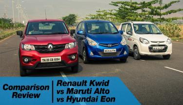 Renault Kwid Vs Alto K10 Vs Hyundai Eon
