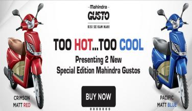 Mahindra launches special editions of Gusto, booking on Paytm