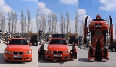 कार है या अजूबा, 50 सेकेंड में बन जाती है रोबोट