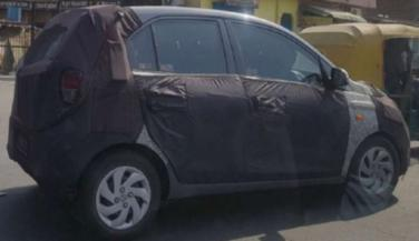 Upcoming new gen Hyundai Santro spotted testing in camouflage again - Economy Car News in Hindi