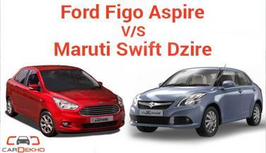 Swift Dzire vs Figo Aspire, कौनसी कार है बेहतर, आइए जाने